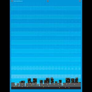 TCR20747 Superhero 10 Pocket Chart Image