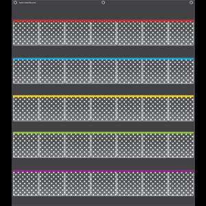 TCR20750 Black Polka Dots Storage Pocket Chart Image