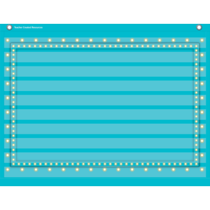 TCR20775 Light Blue Marquee Mini Pocket Chart Image