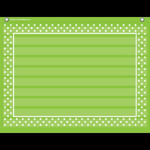 TCR20777 Lime Polka Dots Mini Pocket Chart Image