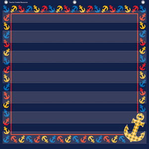 TCR20781 Anchors 7 Pocket Chart Image