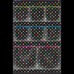 TCR20782 Chalkboard Brights 8 Pocket Small Storage Pocket Chart Image