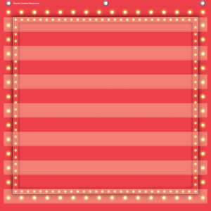TCR20783 Red Marquee 7 Pocket Chart Image