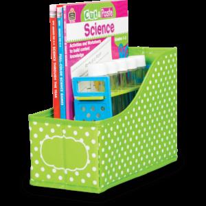 TCR20785 Lime Polka Dots Book Bin Image
