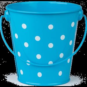 TCR20823 Aqua Polka Dots Bucket Image
