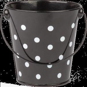 TCR20825 Black Polka Dots Bucket Image