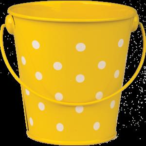 TCR20828 Yellow Polka Dots Bucket Image