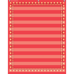 TCR20831 Red Marquee 10 Pocket Chart Image