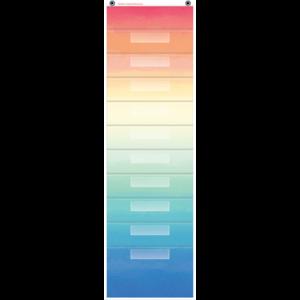 TCR20842 Watercolor 10 Pocket File Storage Pocket Chart Image