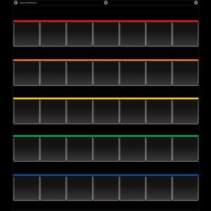 TCR20844 Black Storage Pocket Chart Image