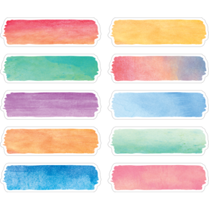 TCR20873 Watercolor Labels Image