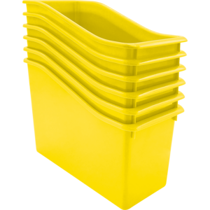 TCR2088562 Yellow Plastic Book Bin 6 Pack Image