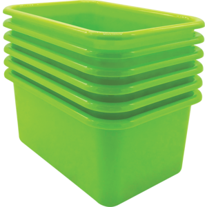 TCR2088574 Lime Small Plastic Storage Bin 6 Pack Image