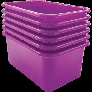 TCR2088575 Purple Small Plastic Storage Bin 6 Pack Image
