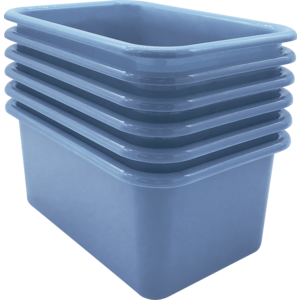 TCR2088583 Slate Blue Small Plastic Storage Bin 6 Pack Image