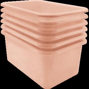 TCR2088584 Blush Small Plastic Storage Bin 6 Pack Image