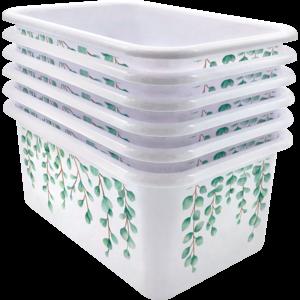 TCR2088589 Eucalyptus Small Plastic Storage Bin 6 Pack Image