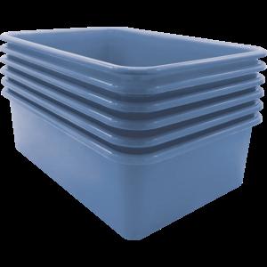 TCR2088601 Slate Blue Large Storage Bin 6 Pack Image