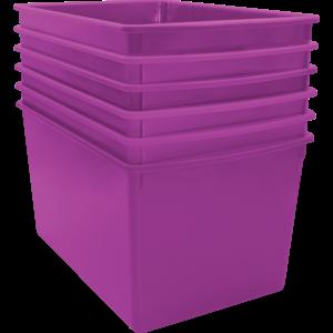 TCR2088608 Purple Plastic Multi-Purpose Bin 6 Pack Image