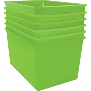 TCR2088611 Lime Plastic Multi-Purpose Bin 6 Pack Image
