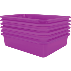TCR2088615 Purple Large Plastic Letter Tray 6 Pack Image