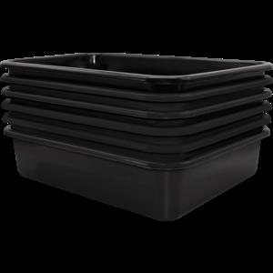 TCR2088616 Black Large Plastic Letter Tray 6 Pack Image