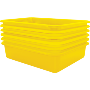 TCR2088622 Yellow Large Plastic Letter Tray 6 Pack Image