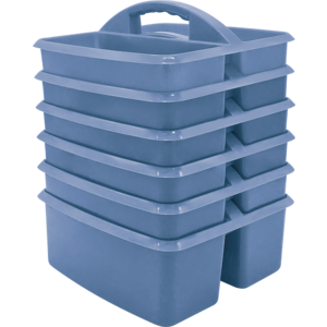 TCR2088625 Slate Blue Plastic Storage Caddy 6 Pack Image