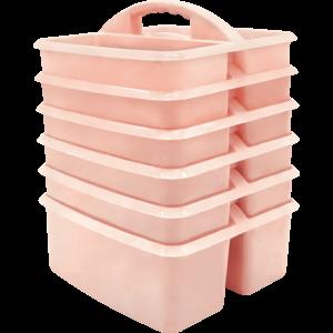 TCR2088626 Blush Plastic Storage Caddy 6 Pack Image