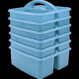 TCR2088628 Light Blue Plastic Storage Caddy 6 Pack Image