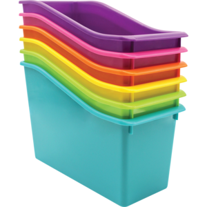 TCR2088636 Brights Plastic Book Bins Set of 6 Image