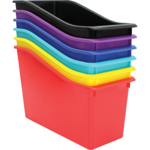 TCR2088637 Bold Colors Plastic Book Bins Set of 6 Image