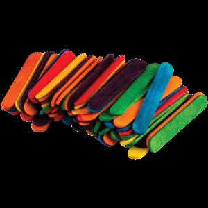 TCR20923 STEM Basics: Multicolor Mini Craft Sticks - 100 Count Image