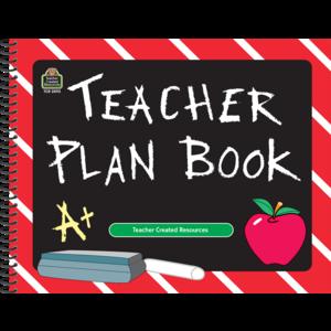 TCR2093 Chalkboard Teacher Plan Book Image