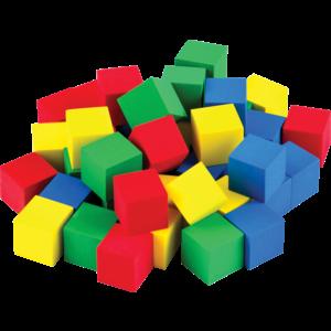 """TCR20938 STEM Basics: Multicolor 3/4"""" Foam Cubes - 40 Count Image"""