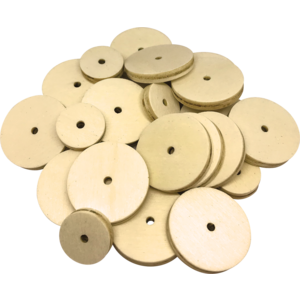 TCR20940 STEM Basics: Wooden Wheels - 60 Count Image