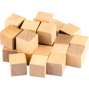 TCR20941 STEM Basics: Wooden Cubes - 25 Count Image