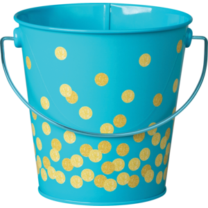TCR20973 Teal Confetti Bucket Image