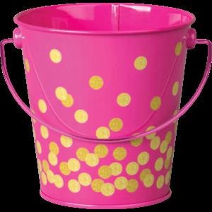 TCR20974 Pink Confetti Bucket Image