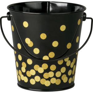 TCR20975 Black Confetti Bucket Image