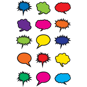 TCR2144 Colorful Speech/Thought Bubbles Mini Accents Image