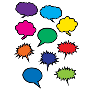 TCR2145 Colorful Speech/Thought Bubbles Accents Image