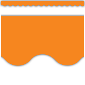 TCR2151 Orange Scalloped Border Trim Image