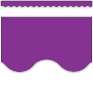 TCR2153 Purple Scalloped Border Trim Image