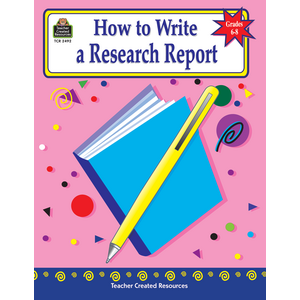 TCR2492 How to Write a Research Report, Grades 6-8 Image