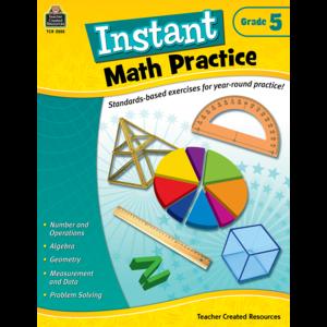 TCR2555 Instant Math Practice Grade 5 Image