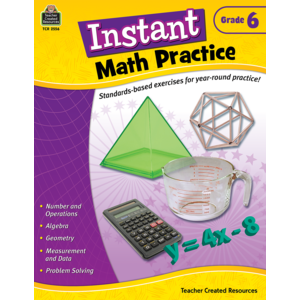 TCR2556 Instant Math Practice Grade 6 Image