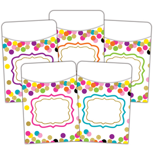 TCR2736 Confetti Library Pockets - Multi-Pack Image