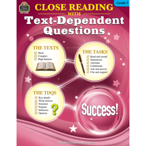 TCR2738 Close Reading Using Text-Dependent Questions Grade 5 Image