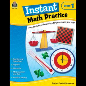TCR2748 Instant Math Practice Grade 1 Image